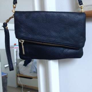 Black Asymmetrical Bag/clutch