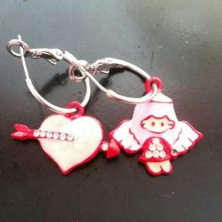 Cute Valentines Love Angel Earrings