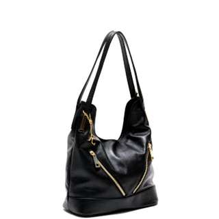 Renata Corsi Black Italian Leather Handbag
