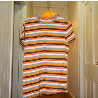 Super Dry Stripy T-Shirt (XS Mens size)