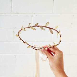 Gold Leaf Flower Crown By K is for Kani