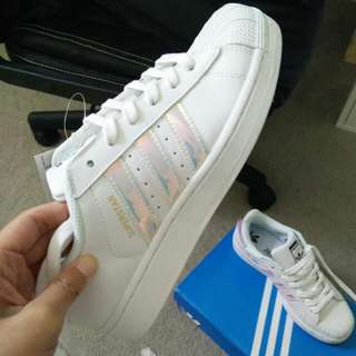 ADIDAS SUPERSTAR HOLOGRAPHIC - SIZE 6