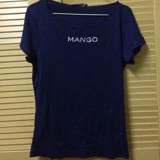 Navy Blue Mango Top