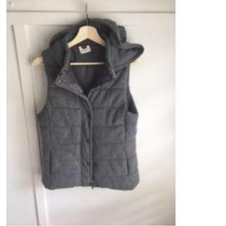 Grey Puffy Vest Activewear