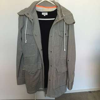 Size 8 Hurley Striped Hooded Jacket