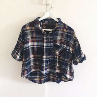 Plaid Polo/Top | Item 004