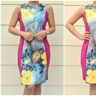 Size 8 Pink Floral Dress