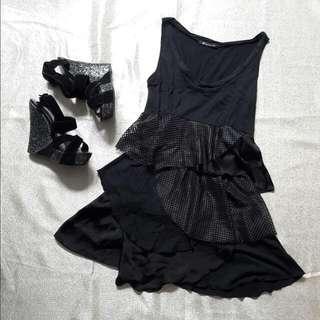 🌻REPRICED🌻 a' Apostrophe - Black Party Dress