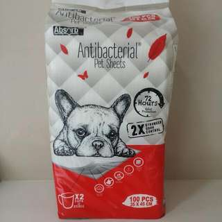Absorb Plus Antibacterial Pet Sheets (Peepad)
