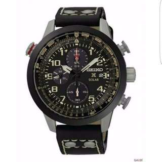 SSC423P1 - Seiko Prospex Solar Chronograph Durable Black leather Men's Watch