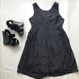 People Are People - Black Backless Party Dress