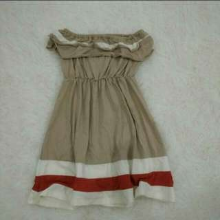 Beach Mini Dress / baju sleveless kemben