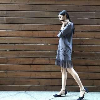 波西米亞麂皮洋裝