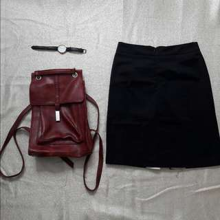 🌻REPRICED🌻 MILADY - Black Pencil Cut Office Skirt