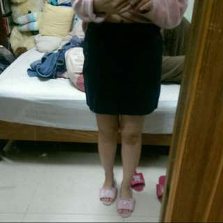 Mango深藍短裙(適合上班穿)