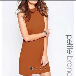 ASOS Glamorous Petite Roll Neck Sleeveless Dress