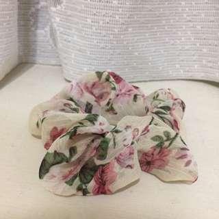 玫瑰雪紡髮圈