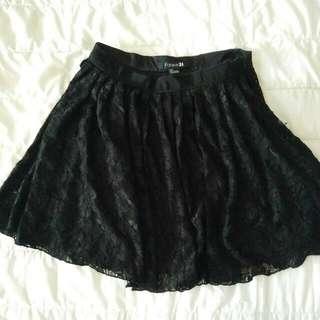 Forever21 Black Lace Skirt