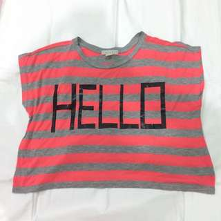 Forever 21 Hello Cropped Top
