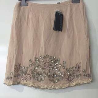 Forever New Embellished Skirt- Size 8