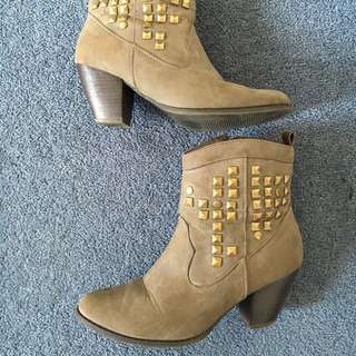 Brown Stud Boots