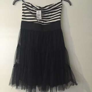 Dotti Stripe And Tulle Dress