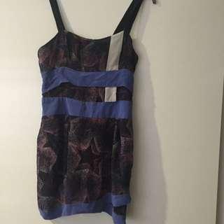 Seduce Star Printed Dress - Size 10