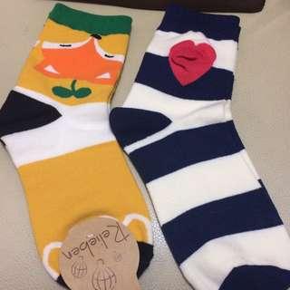 狐狸襪子&愛心條紋襪