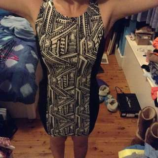BNWOT fitted Patterned Dress