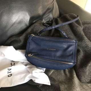 AUTHENTIC Givenchy Mini Pandora Crossbody In Navy
