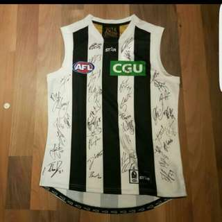 2016 Team Signed Collingwood Away Guernsey