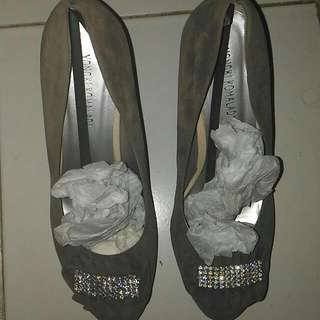 Yongki Komaladi - Grey Velvet Shoes