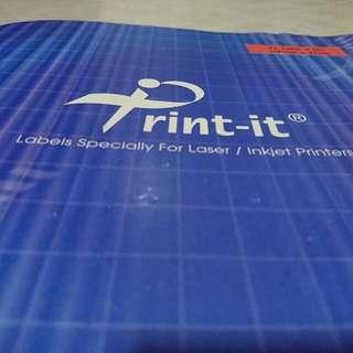 Print-it Laser/Inkjet Labels (105mm X 37mm)