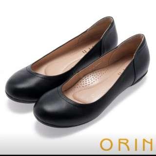 ORIN 率性簡約 柔軟牛皮素面平底鞋(僅穿一次