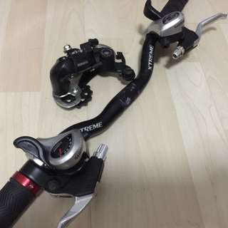 Shimano 7speed shifter and derailleur