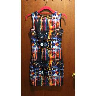 Multicolour skyline dress