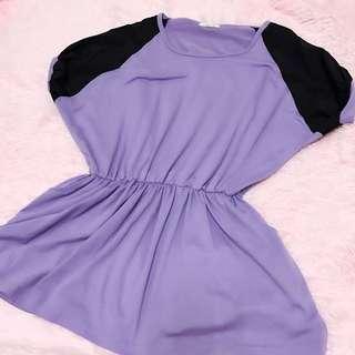 二手 收腰 口袋 上衣 葡萄紫