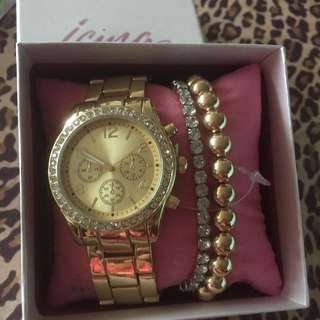 Gold Tone Boyfriend Style Watch