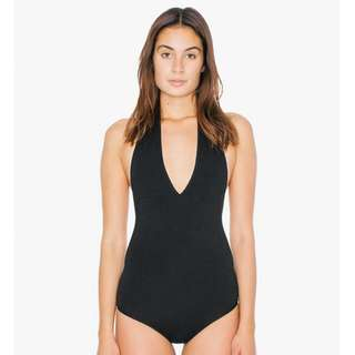 Selling A All Black American Apparel Halter Body Suit
