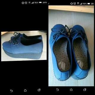 厚底鞋 【藍色】
