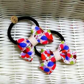 🎀卉琳手作🎀 花蝶紅藍 蝴蝶結髮束 兒童 舞會 萬聖節 聖誕節 跨年
