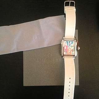 Brand New Michele Watch With Silicone Strap