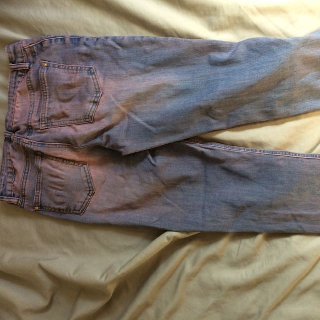 2 Pairs Of Pink Wash Jeans