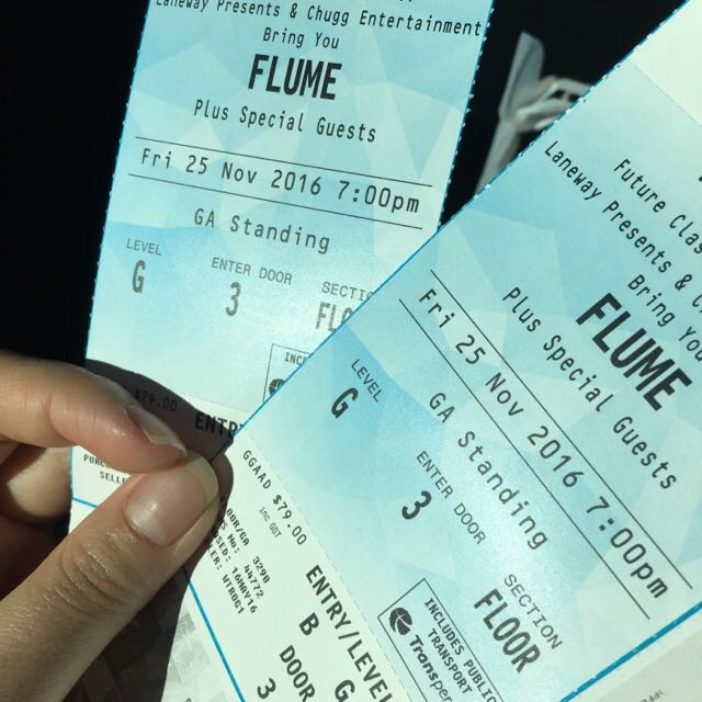 2x FLUME STANDING Tickets Perth
