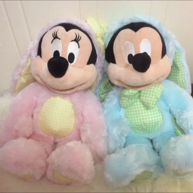 迪士尼購入的米奇米妮夫婦 復活節限定