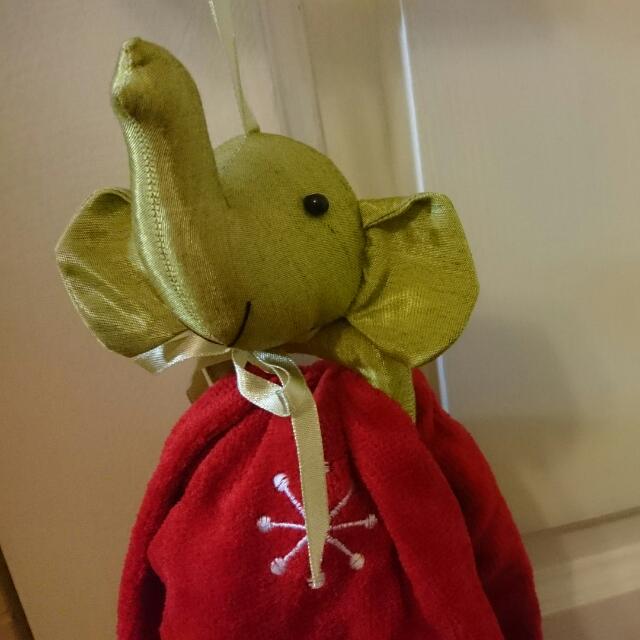 聖誕節小物 大象+雪人 時尚/實用掛巾