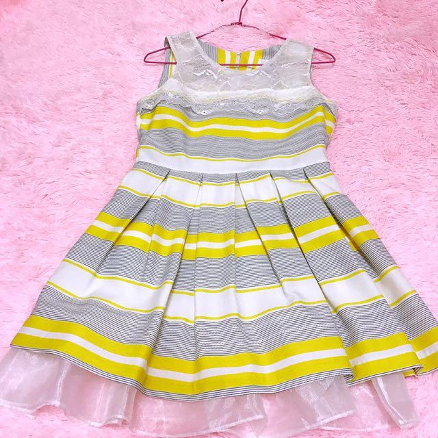 二手 正韓貨 TANGO 無袖 蕾絲 小禮服 小洋裝