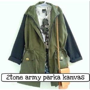 A0548 2 tone army parka