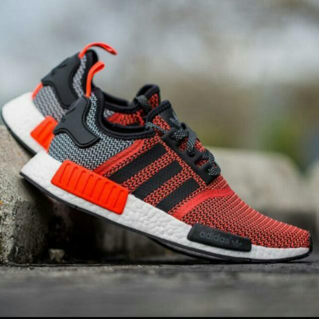 buy online 4f63e a958a Adidas NMD Runner Red Black, Men's Fashion on Carousell