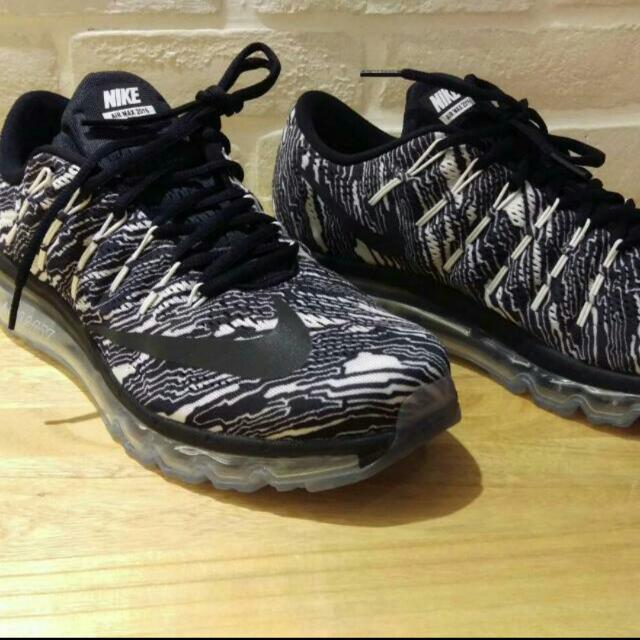 Nike Air Max 2016 斑馬紋黑白慢跑鞋